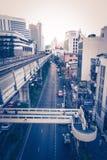 Skytrain da cidade de Banguecoque Imagens de Stock