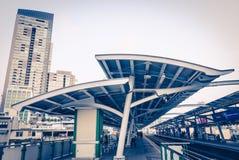 Skytrain da cidade de Banguecoque Fotografia de Stock Royalty Free