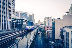 Skytrain da cidade de Banguecoque Imagem de Stock
