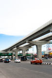 Skytrain elevated rails over main road Stock Photography