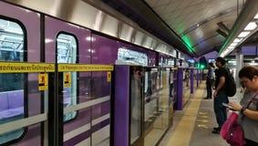 Skytrain en Bangkok Imágenes de archivo libres de regalías