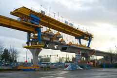 Skytrain construction Vancouver Stock Photo