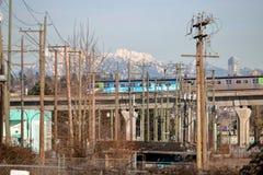 Skytrain i Międzymiastowy Vancouver, Kanada zdjęcie stock