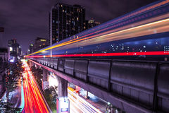 Skytrain-Licht Stockfotos