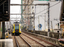 Skytrain on the rail track in Manila, Philippines.  Royalty Free Stock Photography