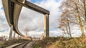 Skytrain trail and railway trail Stock Photo