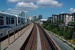 Skytrain Vancouver B.C., Canada stock photography