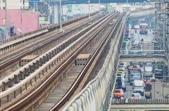 Skytrain way. Image of skytrain way in thailand Stock Photo