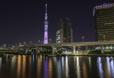 Skytree de Tokyo la nuit photos libres de droits