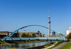 Skytree di Tokyo con cielo blu Tokyo, Giappone Fotografie Stock