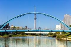 Skytree di Tokyo con cielo blu Tokyo, Giappone Immagine Stock Libera da Diritti
