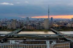 Skytree di Tokyo con cielo blu Tokyo, Giappone Fotografia Stock Libera da Diritti