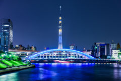 Skytree Skyline in Tokyo Stock Images