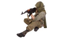 Skytt med AK 47 Arkivfoton