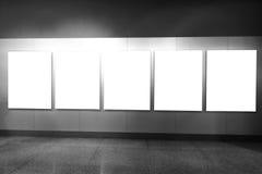 Tomt inrama i konstmusem Arkivbilder