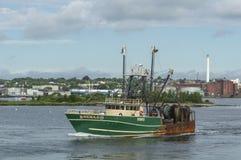 Skyttel för kommersiellt fiske Hera II lämna New Bedford Arkivfoton