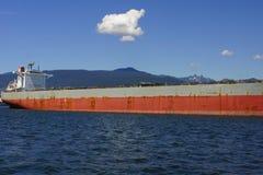 Skyttel i hamnen av Vancouver Arkivbilder