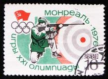 Skyttesport, olympiska spel i Montreal, Kanada, circa 1976 Arkivbilder