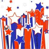 Skyttestjärnor. Vektorillustration. Royaltyfri Foto