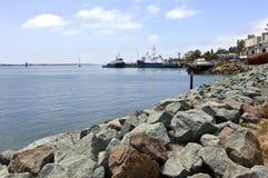 Skyttlar för punktLoma San Diego fiske Kalifornien. Arkivfoto