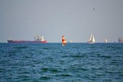 Skyttlar i havet Arkivbild