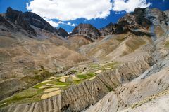 Skyumpata village - Beautiful village in Zanskar trek Royalty Free Stock Photos