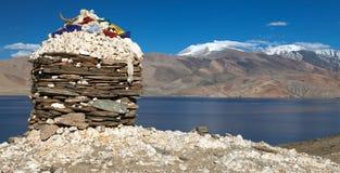 Skyumpata wioska - Piękna wioska w Zanskar wędrówce Obrazy Stock