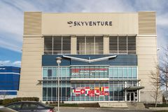 The SkyVenture Laval. Are you looking for an indoor activity near Montreal, an original experience with great thrills that you can enjoy with friends or family? royalty free stock images