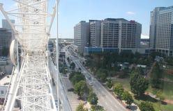 从skyview弗累斯大转轮的亚特兰大 库存图片
