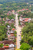 Skyview и ландшафт в prabang luang, Лаосе Стоковая Фотография RF