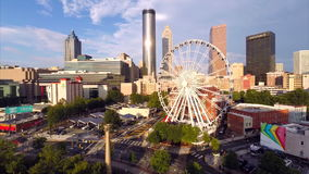 Skyview Atlanta Aerial video stock footage