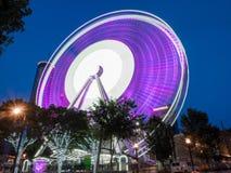 Skyview Atlanta Ferris Wheel dans le mouvement Atlanta, GA image libre de droits