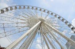 SkyView Atlanta wheel. Upward closeup view of the SkyView Atlanta Ferris wheel, located in downtown Atlanta, Georgia (USA Royalty Free Stock Photo
