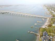 Skyview av AB till MHC-bron Arkivfoton