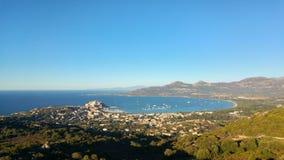Skyview de Calvi Imagen de archivo libre de regalías