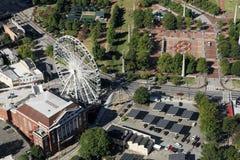 Skyview en het Honderdjarige Park, Atlanta, GA stock afbeelding