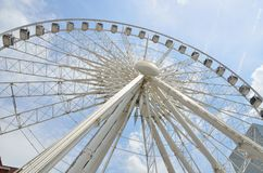 Skyview Ferris koło Atlanta, Gruzja obrazy royalty free