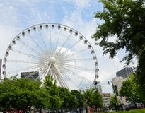 Skyview Ferris Wheel Atlanta, Georgia Stock Photo
