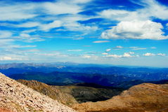 Skyview from Mount Eveans Royalty Free Stock Photography