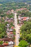 Skyview och landskap i luangprabang, Laos Royaltyfri Fotografi