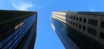 Skyview in San Diego im Stadtzentrum gelegen Stockfotografie