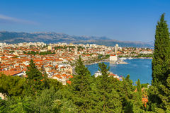 Skyview Split, Croatia. Skyview from Oldtown Split, Croatia Stock Photos
