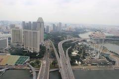 Skyview van de Vlieger van Singapore, eens langste Ferris van de wereld Royalty-vrije Stock Foto's