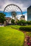 Skyview w w centrum Atlanta, Gruzja Fotografia Stock