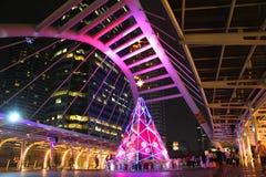 Skywalk在曼谷,泰国 图库摄影