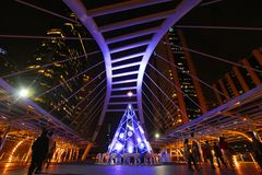 Skywalk在曼谷,泰国 库存图片