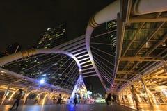 Skywalk在曼谷,泰国 免版税库存图片
