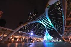 Skywalk在曼谷,泰国 免版税图库摄影