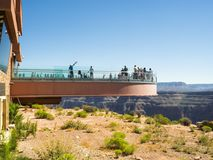 Skywalk大峡谷西部外缘-亚利桑那, AZ 免版税库存照片