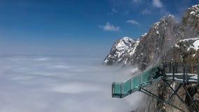 Skywalk στον παγετώνα βουνών Dachstein, Steiermark, Αυστρία Στοκ Εικόνες